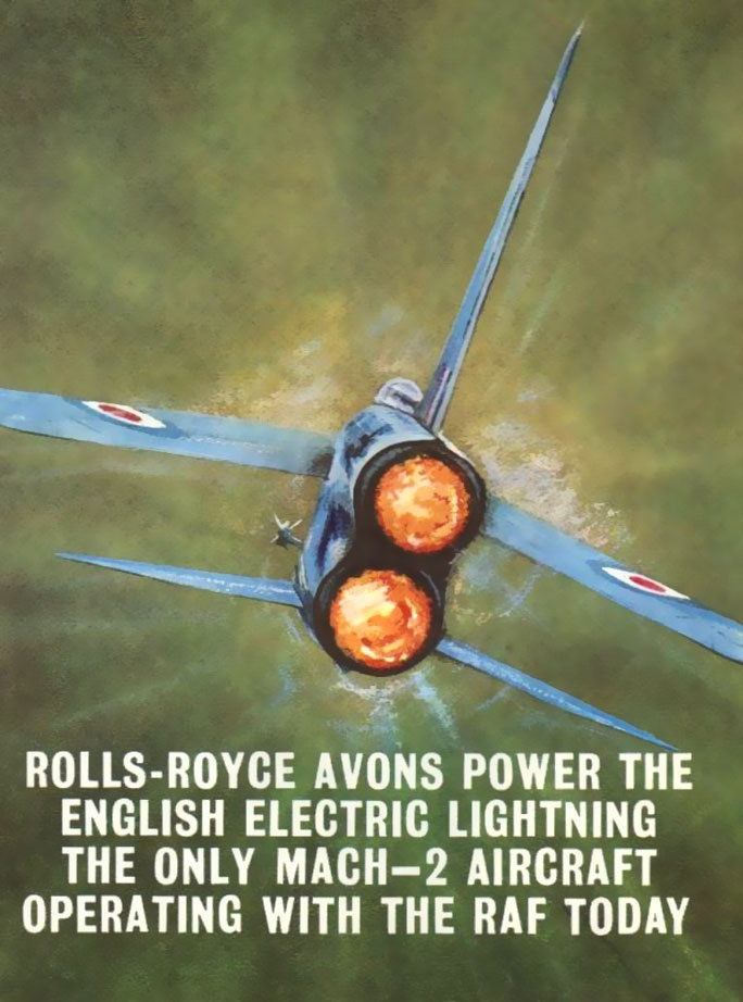 English Electric Lightning, a plane built around 2 jet engines. Fantastic rate of climb made it a great interceptor but limited fuel affected range