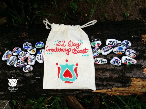 22 Day Creativity boost story stones by tulipheARTcreations