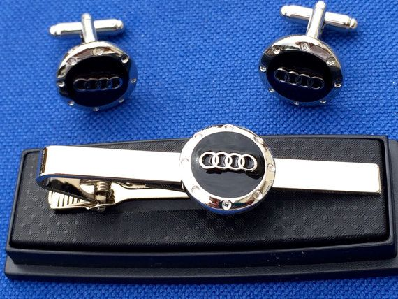 Audi Tie Clip with matching Cufflinks