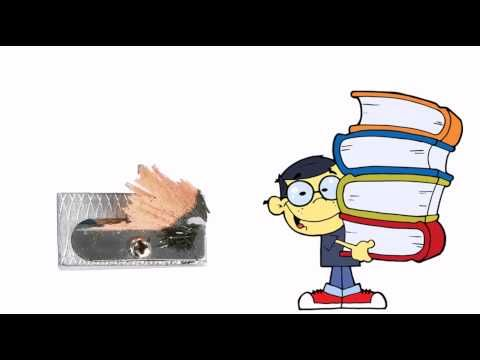 Les fournitures scolaires - YouTube