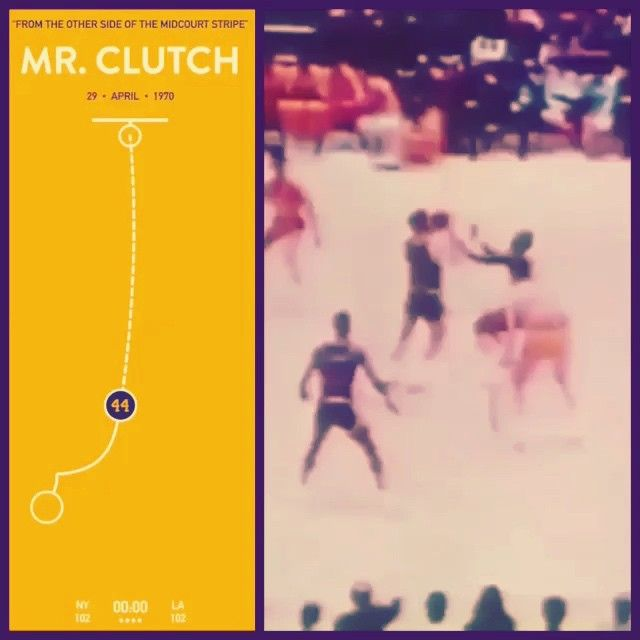 FEED | Websta - (#VIDEO) get1later 45 Years Ago Tonight.... Lakers guard Jerry West hit a 60-foot shot at the buzzer to tie Game 3 of the NBA Finals against the New York Knicks. Unfortunately the Lakers scored ONLY 6points in Overtime and lost the game 111-108 (if The #3Pointer was part of the game then, That's a Walk-Off Win & That May Have Given the @lakers their First #NBARing in #LA #TheLogo #MrClutch #ZekeFromCabinCreek #44