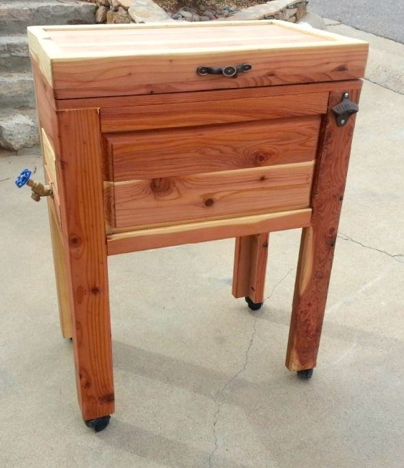 Cedar Wood Furniture Plans ~ Best images about rustic ice chest on pinterest diy