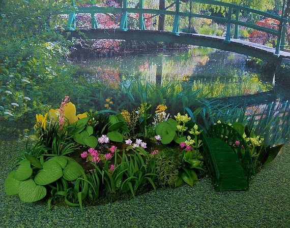 Dollhouse Landscape. Pond for garden. Miniature Dollhouse.