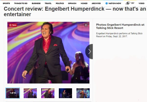 AZ Central Reviews Engelbert Humperdinck's Performance at Talking Stick Resort - http://www.okgoodrecords.com/blog/2017/09/29/az-central-review-engelbert-humperdinck/ - International music legend Engelbert Humperdinck has been on tour for the majority of the past year. On Friday, September 22nd, Engelbert Humperdinck brought his 50th Anniversary Tour to Talking Stick Resort. AZ Central was in attendance and gave a rave review of the legendary singer's... - 50th Annivers