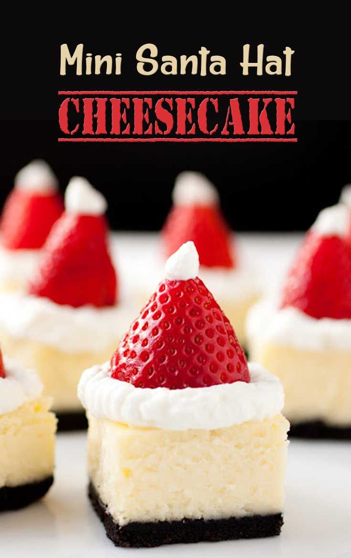 Mini Santa Hat Cheesecake