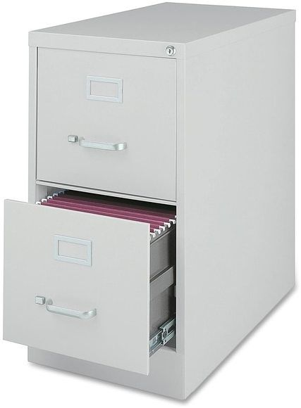 Lorell Fortress Series 28.5-inch 2-drawer Light Grey Letter-size Vertical Files