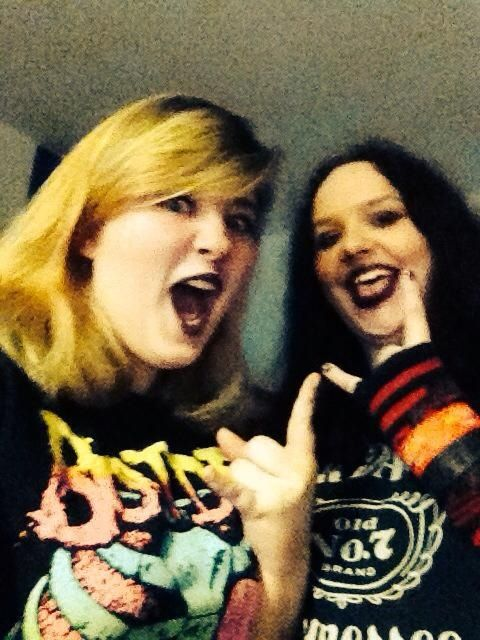 Rock selfie ready for a night out even tho that was awhile ago :p