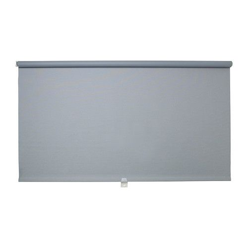 "$27 IKEA - TUPPLUR, Block-out roller blind, 48x76 ¾"", for Connor's room. The blind is cordless for increased child safety.The room darkening blind has a special coating and does not let any light through.Can be mounted inside or outside the window frame, or in the ceiling.You can cut the right side of the roller blind to fit your window."