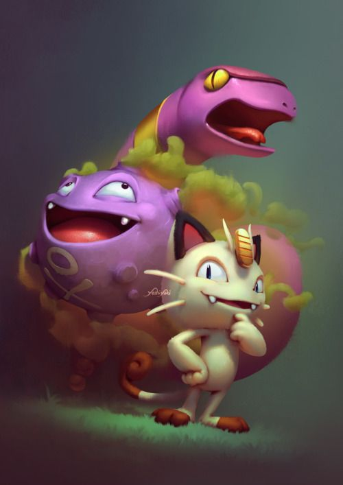 "Pokemon! - fan art by Cassio Yoshiyaki""I made these pokemon for... #ShareArt - #Art #LoveArt https://wp.me/p6qjkV-76r"