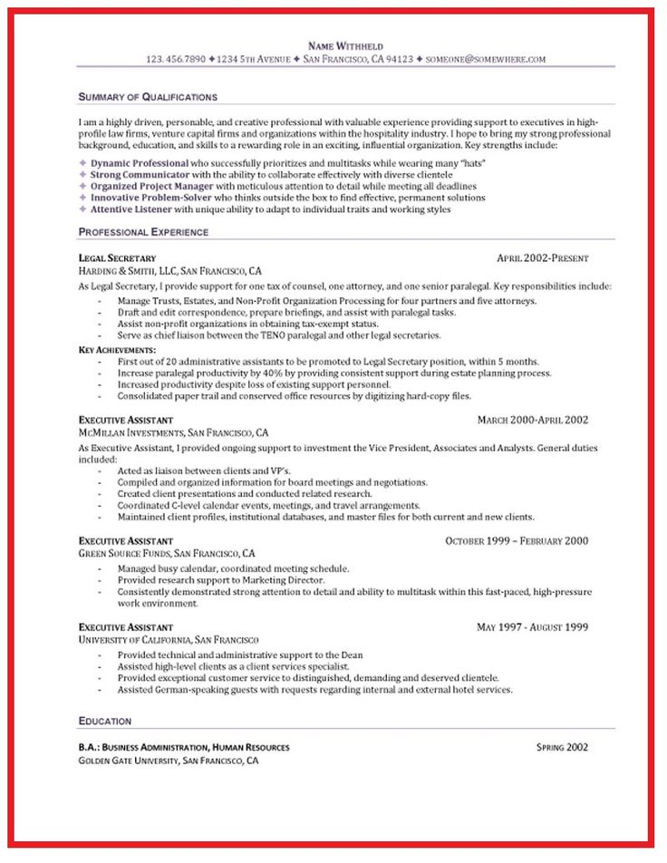 administrative assistant resume objective ideas