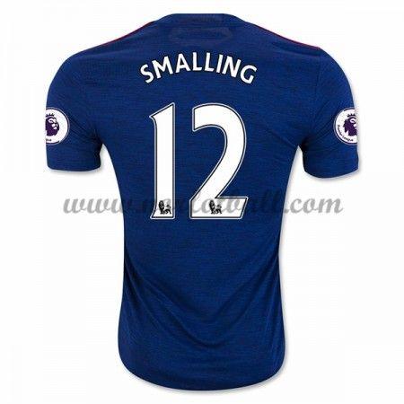 Billige Fotballdrakter Manchester United 2016-17 Smalling 12 Borte Draktsett Kortermet