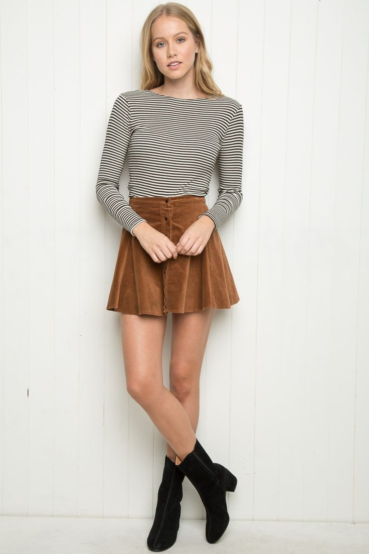 Brandy ♥ Melville | Brya Corduroy Skirt - Skirts - Bottoms - Clothing