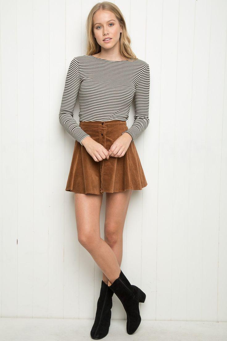 Brandy ♥ Melville | Brya Corduroy Skirt - Skirts - Bottoms - Clothing