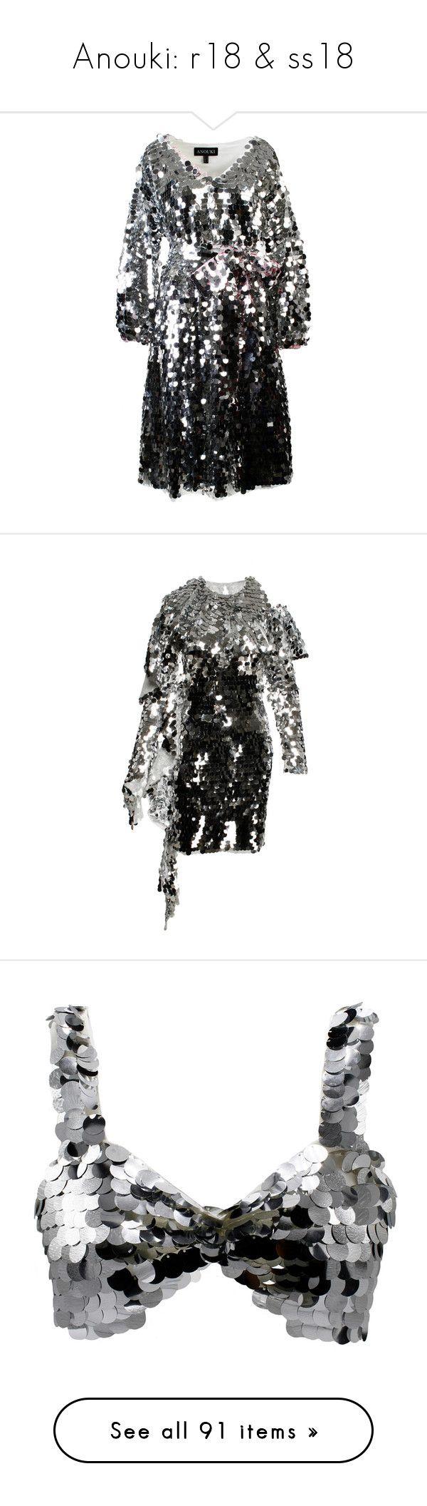 """Anouki: r18 & ss18"" by livnd ❤ liked on Polyvore featuring anouki, livndfashion, livndanouki, resort2018, dresses, silver, sequin embellished dress, silver v neck dress, silver sequin dress and v-neck dresses"