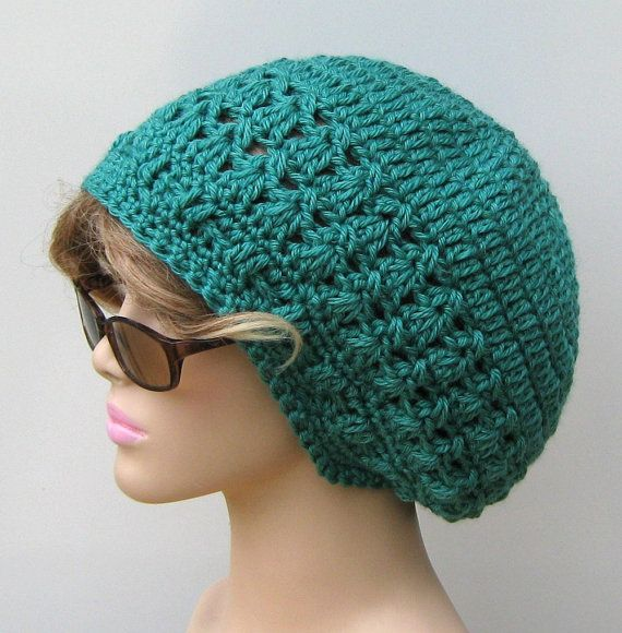 Ready to Ship Mermaid Bamboo wool Dread Beret Slouchy by PurpleSageDesignz, $ 24.00