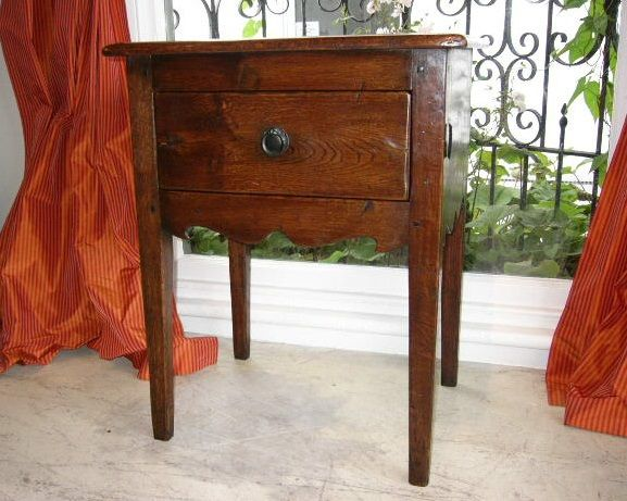 'Josephine' French Side Table - French Oak