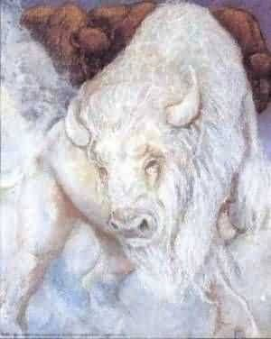 Great Northern Cattle - wooly white beasts that the winter fae hunt. Their pelts are kept as ice cloaks, and trophies. Their horns are given to the emperor. For his coronation, Jokul hunts one down and severs its horns for his headpiece.
