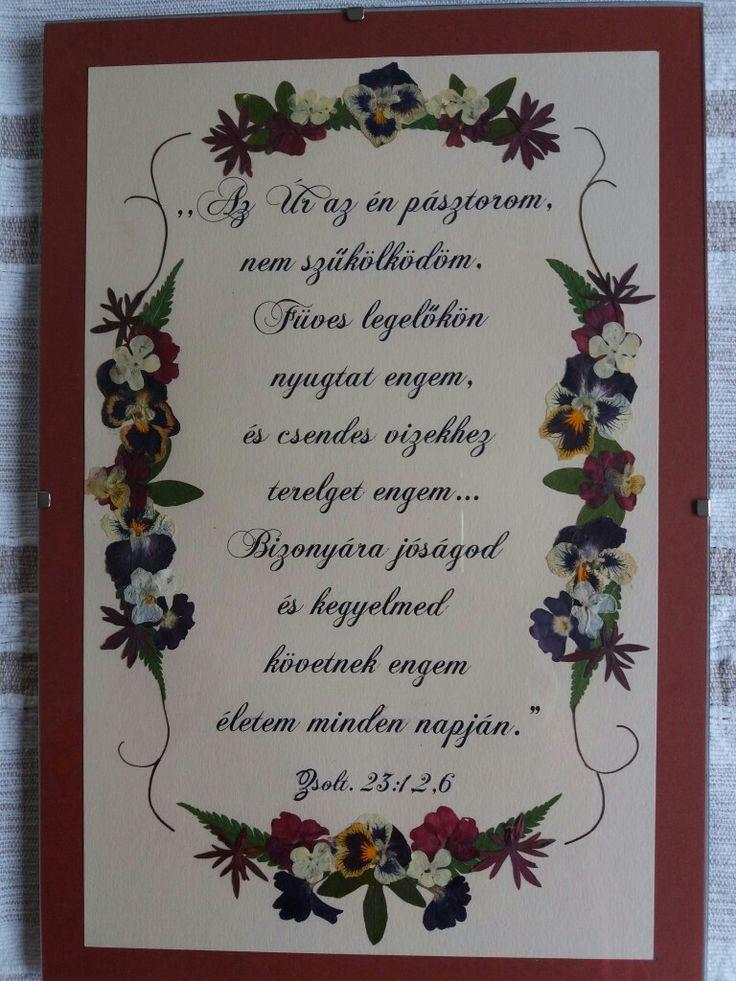 Pressed flower picture- Custom order- Psalms 23