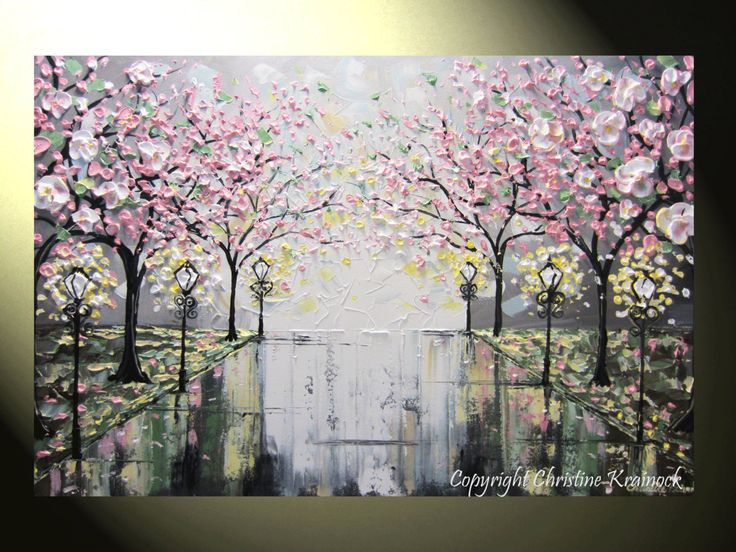 textured floral paintings - Buscar con Google