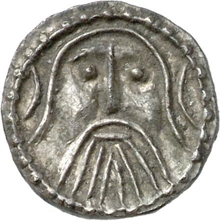 Anglo-Saxon Coinage. Silver early penny, Series Z, c. 715-20. CM.1614-2007, De Wit Collection. Germanic or Insular influence