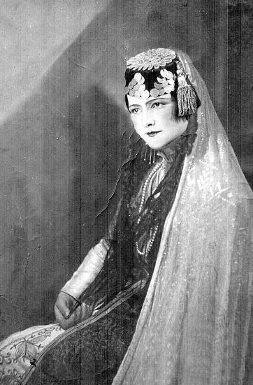 Famous crimean tatar actress Sanie Nalbandova.
