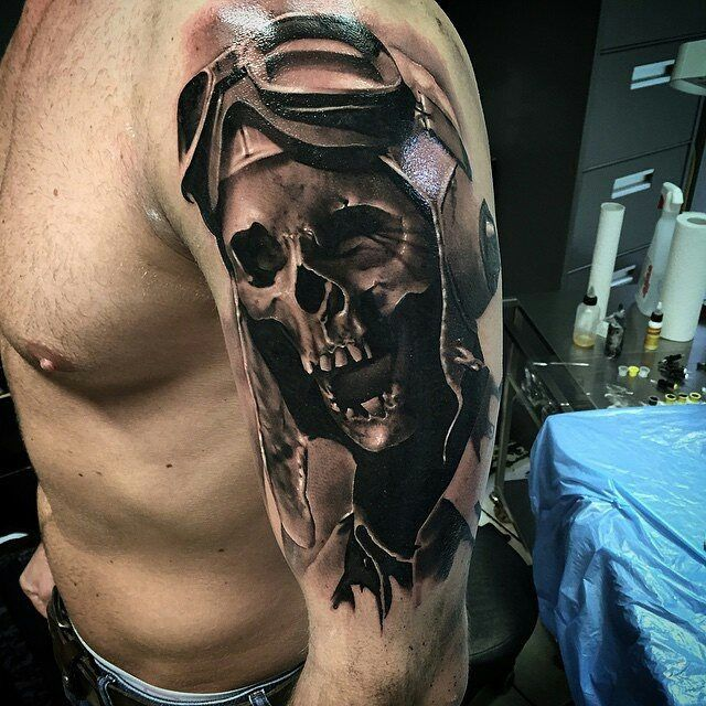 Tattoo by @neonjudas in Berlin, Germany #neonjudas #berlin #germany #skull…