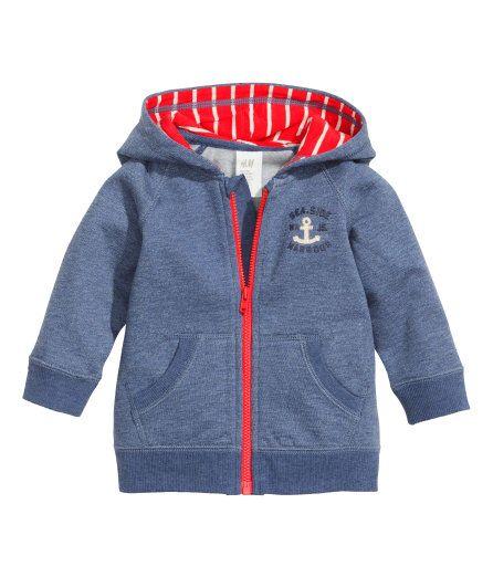 Nautical zip up sweatshirt