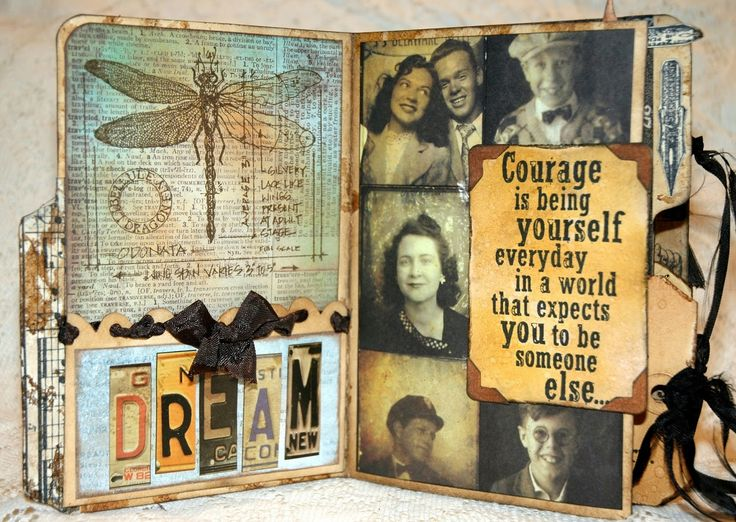 OMGosh is this ever awesome and she offers some step-by-step which is even better.  CREATIVITY IS CONTAGIOUS: A VINTAGE MINI ALBUM FILLED WITH WORDS