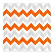 Best Orange Chevron Shower Curtain Images On Pinterest Orange - Gray and orange shower curtain