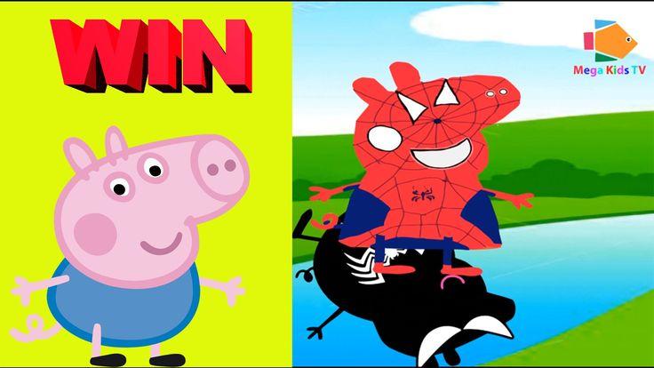 Finger Family Song Peppa Pig Superman and Superman hombre araña   Nurser...