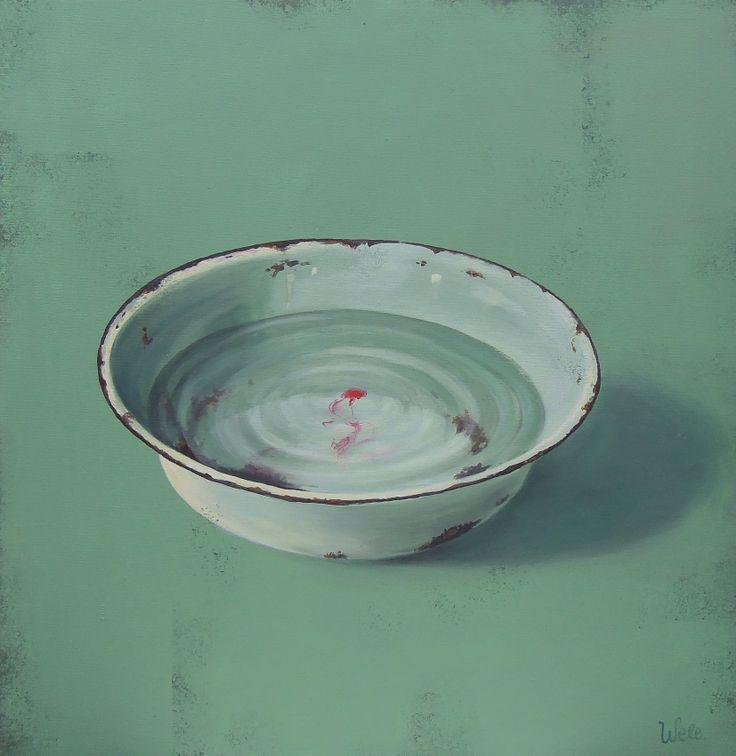 Water bowl | acrylic on canvas |50 x 50 cm-ben bu staylayı sevmem normalde de bu ara huyum suyum değişti,kız iyi değil aslında ama bi şe var ı kant expleyn,its fiiling monami