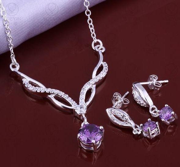 Silver Necklace & Earrings Set, AU$12.95