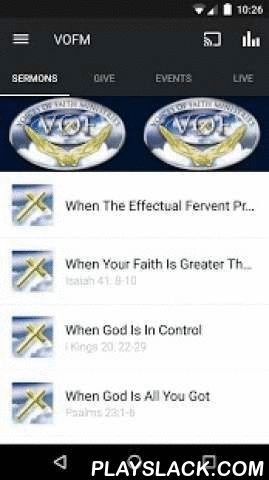 Voices Of Faith Ministries  Android App - playslack.com ,  Listen to sermons on Bible passages or topics that interest you. After you've and internalized the content, you'll want to share it with your friends via Twitter or email.For more information about Voices Of Faith Ministries, please visit:www.voicesfaith.orgThe Voices Of Faith Ministries App was created with The Church App by Subsplash.App: © 2015 The Church App, Content: © 2015 Voices Of Faith Ministries. All rights reserved.