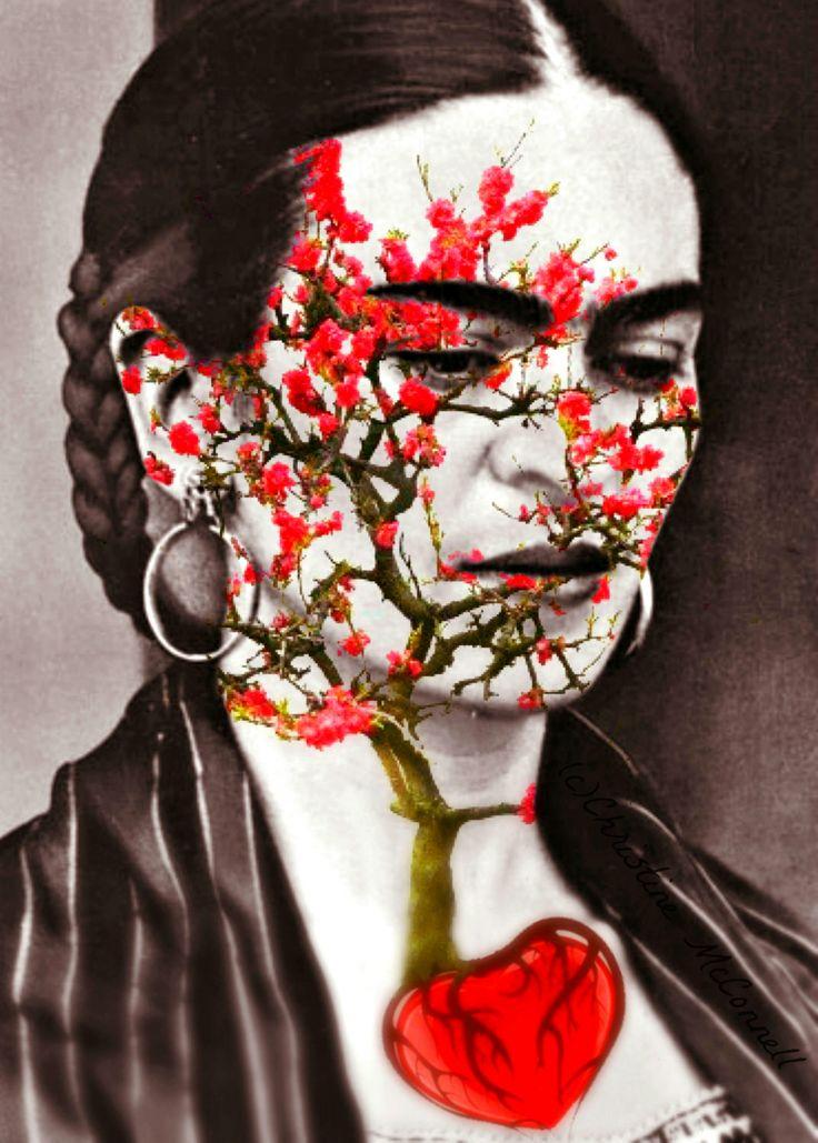 Frida Kahlo Art Photomontage Print Quote Original by ARTDECADENCE