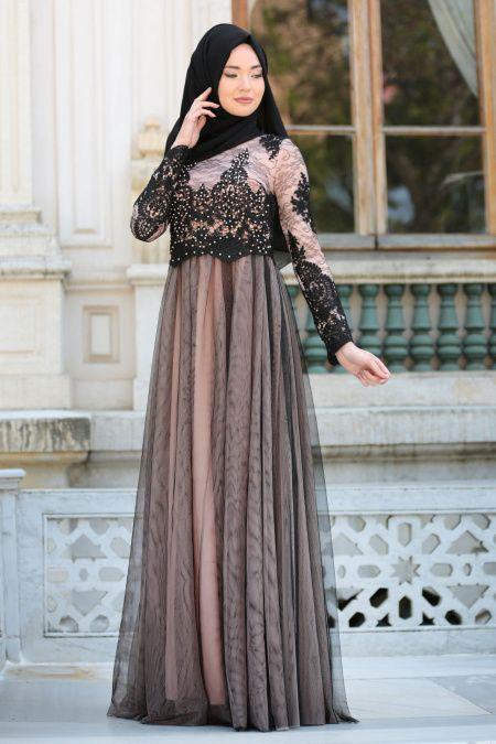 7bca2c89e12ee Tesettür İsland Tül Abiye Elbise Modelleri - Moda Tesettür Giyim ...