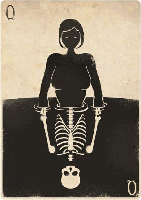 Playing Card Illustration by Felix Blommestijn #art