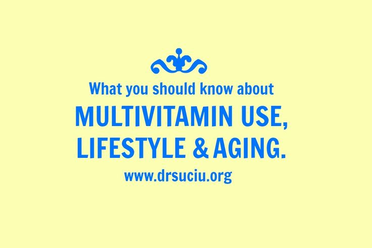 Picture Multivitamin use, lifestyle and aging - drsuciu