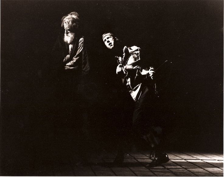 Julian Lopez-Morillas and Howard Swain as Lear and Fool in King Lear, 1991 #calshakes40th: Julian Lopezmorilla