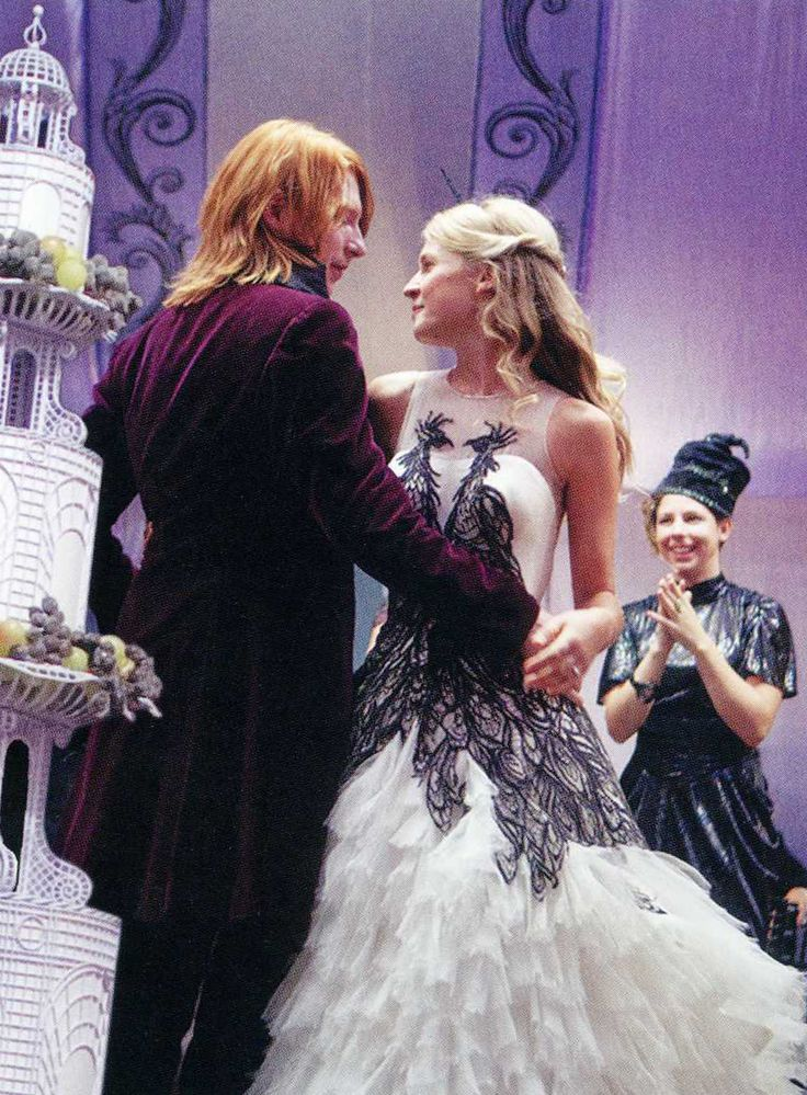 Perfect wedding dress for Fleur as she became a Weasley!