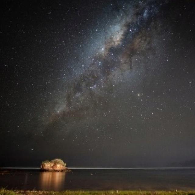 Night sky over the Indian Ocean