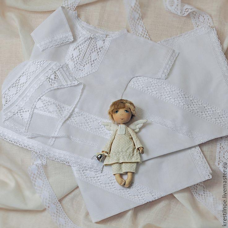Купить Крестильная рубашка Артемий - крестильная рубашка, рубашка для крещения, Крестины, крестильное полотенце, крещение