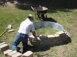 "Simple ""How To"" Fire pit. I am SO doing this!! @ Home Improvement Ideas"