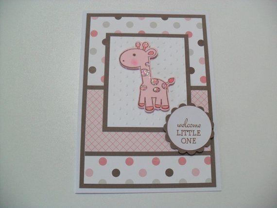 hand stamped baby girl cards   Över 1000 idéer om Babykort på Pinterest   Stampin Up, Stämpla och ...