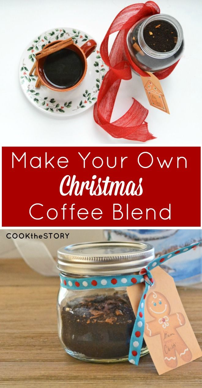 Christmas coffee recipe homemade food gifts and make for Make your own christmas gift baskets