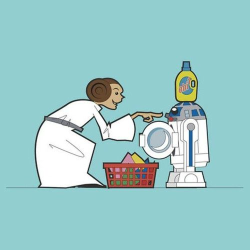 Funny Star Wars Cartoon.Tags: Star Wars.Geek, R2D2, Wash Machine, Star Wars, Stars Wars, Funny Stars, Laundry Room, Starwars, Read Princesses