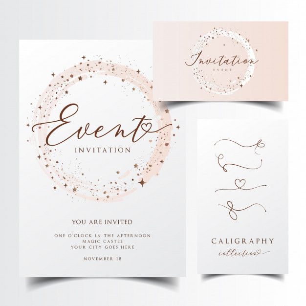 Modern Invitation Card Premium Vector Cartao De Casamento
