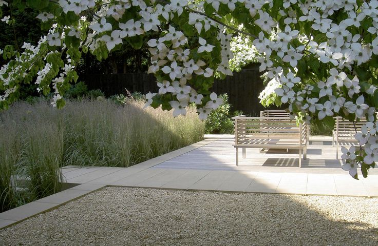 so elegant- grasses, overhanging dogwood, compacted granitic sand and on a larger scale...