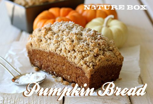 """Mini Pumpkin Loaves by NatureBox {coconut oil is the """"secret"""" ingredient}"""