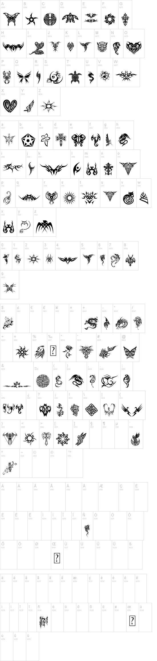 Tribal Tattoo Icons