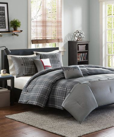 Bring Modern Textures To Your Bedroom With The Unique Intelligent Design  Daryl Comforter Set. The Handsome Bedding Features A Large Grey And White  Plaid ... Part 91